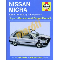 Nissan Micra (1983 - Jan 93) up to K
