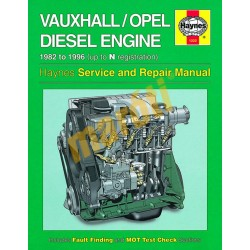 Vauxhall/Opel 1.5, 1.6 & 1.7 litre Diesel Engine (1982 - 1996) up to