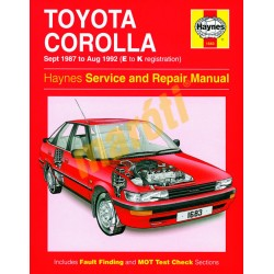Toyota Corolla (Sept 87 - Aug 92) E to K
