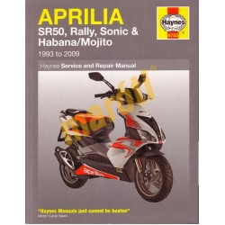 Aprilia SR50, Rally, Sonic, Habana & Mojito Scooters (1993 - 2009)