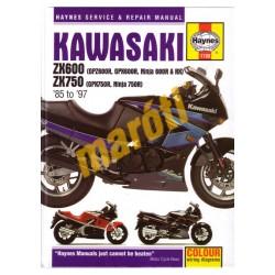 Kawasaki ZX600 (GPZ600R, GPX600R, Ninja 600R & RX) & ZX750 (GPX750R, Ninja 750R) 1985-1997