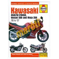 Kawasaki 454LTD/LTD450, Vulcan 500 and Ninja 250 (1985 - 2007)
