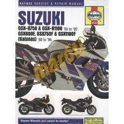 Suzuki GSX-R750, GSX-R1100 (1985 - 1992), GSX600F, GSX750F, GSX1100F