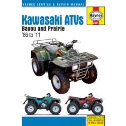 Kawasaki Bayou 220/250/300 & Prairie 300 ATVs (1986 - 03)