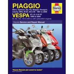 Piaggio (Vespa) Scooters (1991 - 09)
