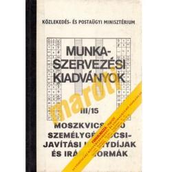 Moszkvics 2140 személygépkocsi javítási iránydíjak III/15