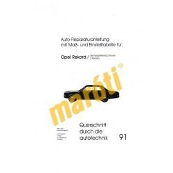 Auto-Reparaturanleitung mit Maß-und Einstelltabelle für: Opel Rekord/Olympia/Rekord/Caravan (1964/65)