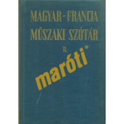 Magyar-Francia műszaki szótár