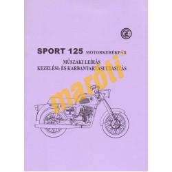 Czetka Sport 125 Kezelési- és karbantartási utasítás