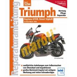 Triumph Daytona 675/R, Street Triple/R 2006-tól (javítási kézikönyv)