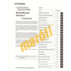 Hyundai Lantra Elantra Shop Manual I. 1995