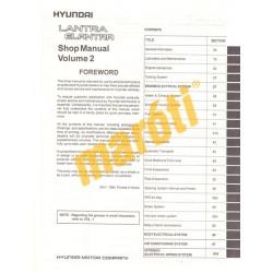 Hyundai Lantra Elantra Shop Manual II. 1995