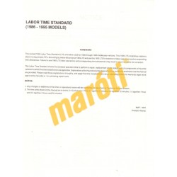 Hyundai Labor Time Standard 1986-1995)