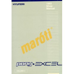 Hyundai Pony Excel 1993 Shop Manual II.