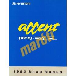 Hyundai Accent Pony Excel 1995 Shop manual II.  (javítási útmutató)