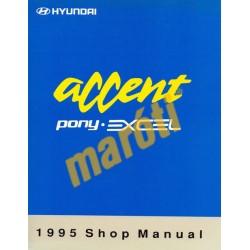 Hyundai Accent Pony Excel 1995 Shop manual I. kötet (javítási útmutató)