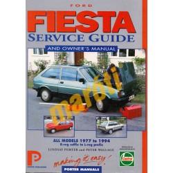 Ford Fiesta Service Guide and Owners Manual 1977-1994 (javítási útmutató)