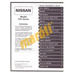 Nissan Model C31 Series Service Manual (javítási útmutató)