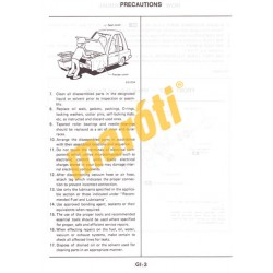 Nissan Micra March Model K10 Series Service manual (javítási útmutató)