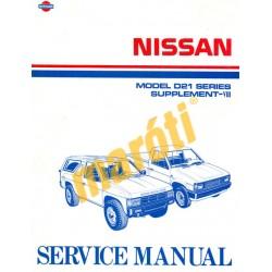 Nissan Model D21 Series Supplement-VIII Service Manual (javítási kézikönyv)