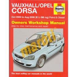 Vauxhall/Opel Corsa 2000-2006 Workshop Manual
