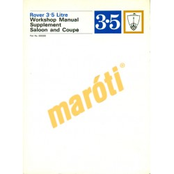 Rover 3.5 Litre Workshop Manual Supplement (javítási kézikönyv kiegészítés)