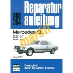 Mercedes - SL 280 SL/SLC, 350 SL/SLC, 450 SL/SLC (1971-) (Javítási kézikönyv)
