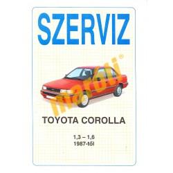 Toyota Corolla 1,3-1,6 1987-től (Szerviz)
