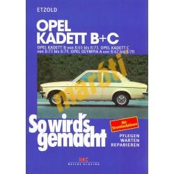 Opel Kadett B+C, Olympia A (Javítási kézikönyv)