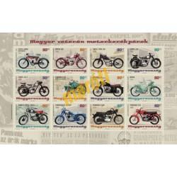 Magyar veterán motorkerékpárok bélyegkisív