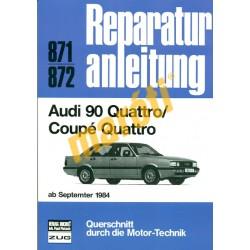 Audi 90 Quattro / Coupé Quattro 1984-től (Javítási kézikönyv)