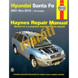 Hyundai Santa Fe 2001 thru 2012 All models