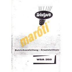 Betriebsanleitung Ersatzteilliste WSA 350