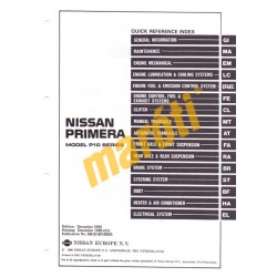Nissan Primera Model P10 Series Service Manual (Supplemet II)