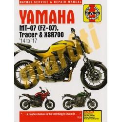 Yamaha MT-07 (FZ-07), Tracer & XSR700 (2014-2017) Javítási kézikönyv