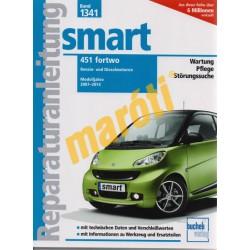 Smart 451 Fortwo (2007-2014) Benzin und Dieselmotoren (Javítási kézikönyv)