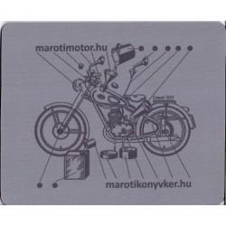 Veterán motorkerékpár Csepel 125/T egérpad