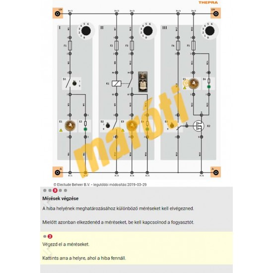 Vezetett multiméteres diagnosztikai tanfolyam