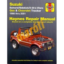 Suzuki Samurai Sidekick X-90 Vitara  Geo and Chevrolet Tracker 1986-2001