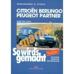 Citroen Berlingo / Peugeot Partner  1996-2010 benzines és dízel (Javítási kézikönyv)