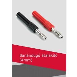 Banándugó átalakító 4mm (piros)