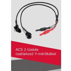 ACS 2 tüskés csatlakozó Y-mérőkábel