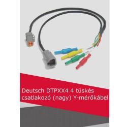 Deutsch DTPXX4 4 tüskés csatlakozó (nagy) Y-mérőkábel