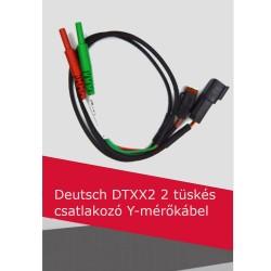 Deutsch DTXX2 2 tüskés csatlakozó Y-mérőkábel