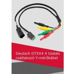 Deutsch DTXX4 4 tüskés csatlakozó Y-mérőkábel