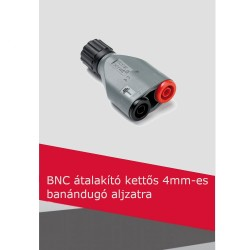 BNC átalakító kettős 4mm-es banándugó aljzatra