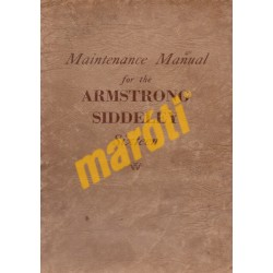 Maintenance Manual for the Armstrong Siddeley Sixteen